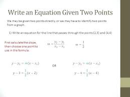 slope from two points worksheet