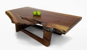 walnut slab coffee tables
