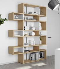 View Larger Gallery Modern Bounce shelving unit or a bookcase in a lovely  Oak wood finish with matt white