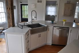 Kitchens With White Countertops White Quartz Countertop Installed In Frankfort Ny Quartz Top