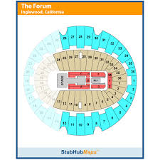 63 Organized The Forum Seating Chart Mma
