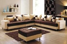 Attractive Cheap Living Room Furniture Set Brown Cream Living Room