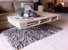 Pallet Coffee Table With Metal Hairpin Legs  101 PalletsPallet Coffee Table With Hairpin Legs