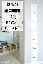 Canvas Measuring Tape Growth Chart Little Red Brick House