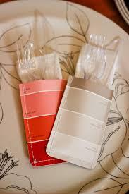 DIY Paint Chip Utensil Holders.