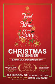christmas dinner poster food wine love christmas eve dinner philip marie picture of