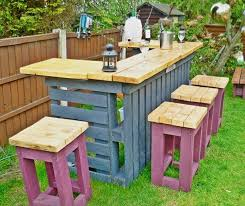 DIY Pallet bar end table design