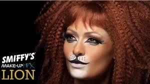 lion face paint make up tutorial
