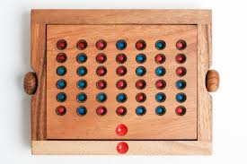 Wooden Connect 4 Game