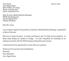 Gallery Of Cover Letter For College Student