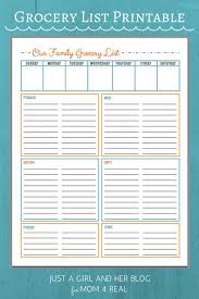 grocery list template printable best 25 grocery list templates ideas on pinterest free menu