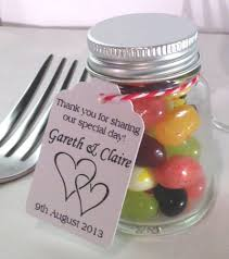 Miniature Sweet Jars with Screwtop for Wedding Favors or Gifts