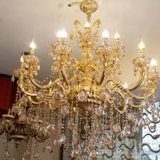 tin lighting fixtures. classic large crystal chandelier light fixture gold copper home lighting for hotel villa tin fixtures