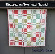 Disappearing Four Patch {a tutorial} – Material Girl Quilts & After showing my latest baby quilt top, some of you asked how to make the  disappearing four patch blocks. So I decided to create a little tutorial. Adamdwight.com