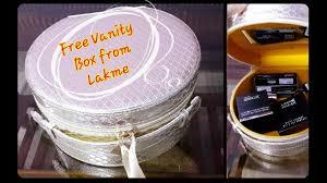 bridal makeup kit lakme haul got free vanity box on purchase of s worth rs 5000