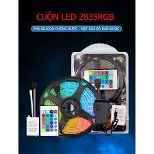 Bộ đèn LED dây dán 5m chip 2835RGB nhiều màu sắc trang trí phủ silicon  chống nước (có nhiều lựa chọn) - Đèn trang trí