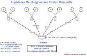 volume control wiring diagram wiring diagram schematics impedance matching volume control all about home electronics piezo wiring diagrams