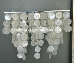 rectangular capiz shell chandelier rectangular