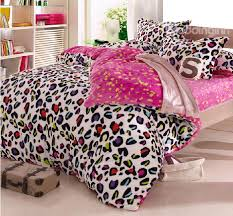 warm c fleece material colorful leopard print 4 piece bedding for duvet covers decorations 18