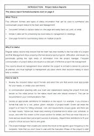 Weekly Work Progress Report Template A Status Is Prepared Word ...