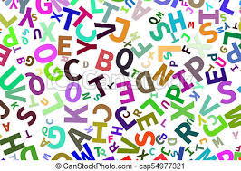 alphabets letters from a to z word cloud csp54977321