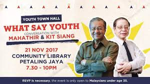 Image result for Mahathir and Kit Siang at PJ Youth Forum