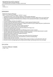 Product Development Manager Resume Sample Velvet Jobs
