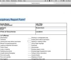 Restaurant Write Up Forms Restaurant Employee Write Up Forms Pdf Form Samples Printable
