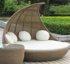 lovely round outdoor daybed with furniture comfortable wicker in bed decor 5