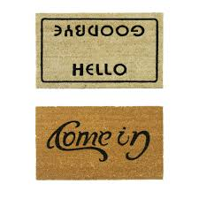 Rubber-Cal, Inc. Welcome Go Away Doormat Set & Reviews | Wayfair