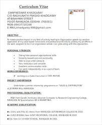Resume Template For Marketing Commily Com