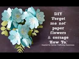 Small Paper Flower Templates Diy Small Paper Flowers And Corsage How To Forget Me Not