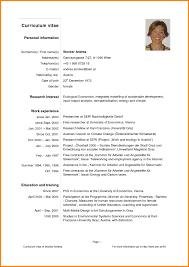 Ultimate Latest Resume Samples Pdf On English Sample Curriculum