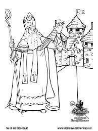Kleurplaat De Club Van Sinterklaas Sinterklaas Zwaait Kleurplatennl