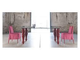 Panca Per Sala Da Pranzo : Panca design legno cristallo glassy tavolo taglio tronco naturale