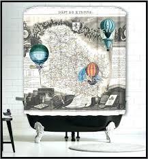 steampunk shower curtain octopus ship bathrooms waterproof bathroom decor