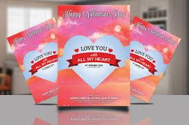 Valentines Day Psd Template