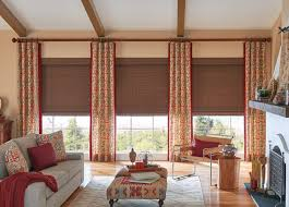 Enjoyable Living Room Curtains Family Room Window Treatments Budget Blinds  Best Image Libraries Goodnews6Info