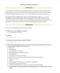 Survey Questionnaire Template