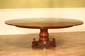 82 to 100 inch round mahogany jupe table seats 8 12 people