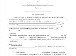 International Joint Venture Agreement Template Sample Documents In ...