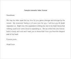 Sample Romantic Love Letter Format