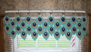 Valance Kitchen Curtains Flower Valance Flower Curtains Crochet Curtains Kitchen
