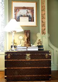 These antique trunks are in wonderful condition and look great in this  bedroom.