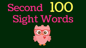 Second 100 Sight Words List 2 Kindergarten First Grade Sight Words Dolch Fry Words Learn To Read