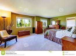 Master Bedroom Vanity Master Bedroom Interior In Bright Green Color Stock Photo Image
