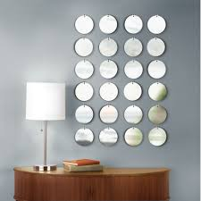 image of mirrored circles wall decor amazing