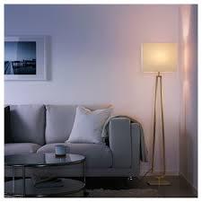 Klabb Floor Lamp Off White Brass Colour