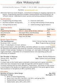 Resume Alex Woloszynski Game Design