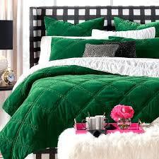 dark green bedding